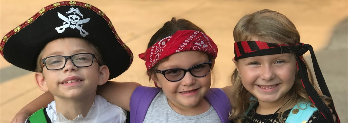 "First Grade- ""Talk Like a Pirate Day"""