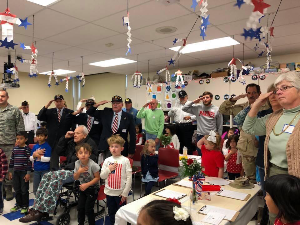 November 12th: Mrs. Rahm's Kindergarten Veteran's Day Program