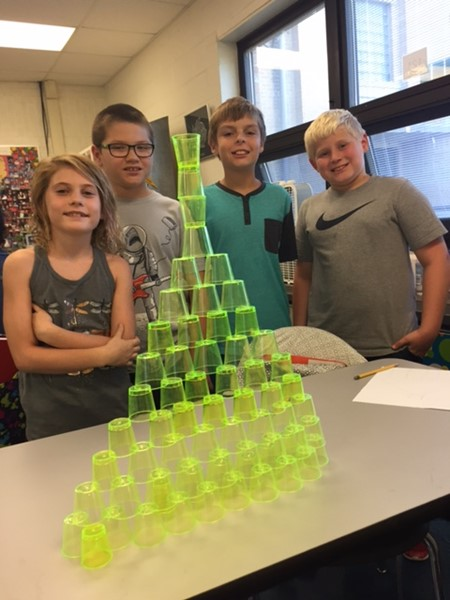 Fourth Grade STEM: Cup Stacking, October 2017