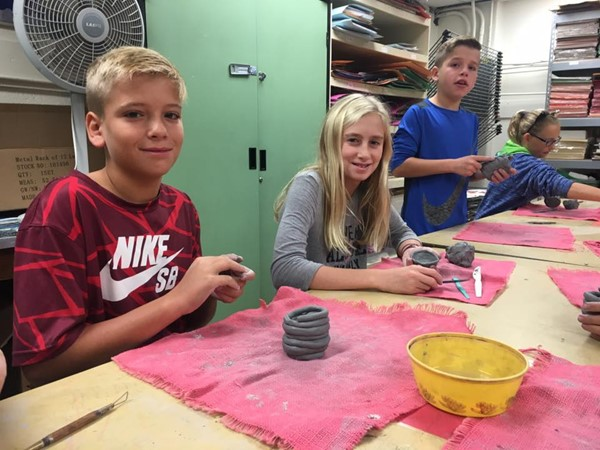 5th Grade Coil Pots, October 2017