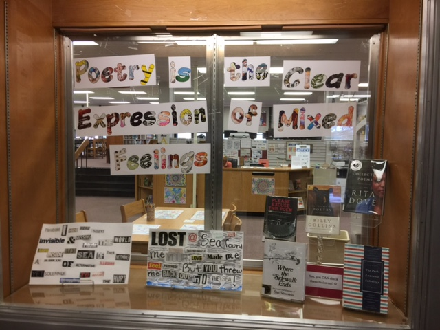 Display for National Poetry Month in April